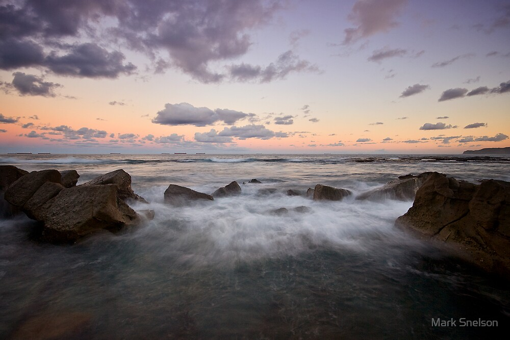 Merewether at Dusk 8 by Mark Snelson