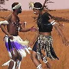 Tribal dancing by indiafrank