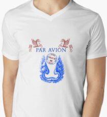Wings Par Avion Series Mens V-Neck T-Shirt