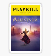 anastasia playbill sticker Sticker