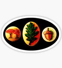 Mushrooms, Oak Leaf, Acorn Sticker