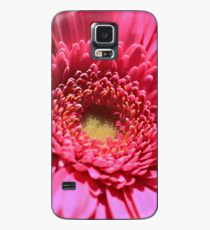 Pink Gerbera Daisy Case/Skin for Samsung Galaxy