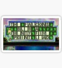 Patriots 28-3 Wheel of Fortune Sticker
