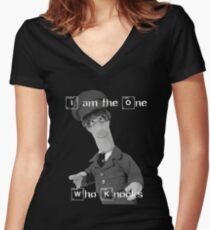 I am the one who knocks - Special Delivery Women's Fitted V-Neck T-Shirt