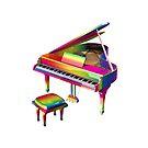 Rainbow Colored Piano by Mythos57