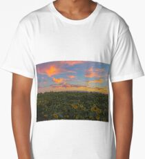 Sunflowers in Sunset Long T-Shirt