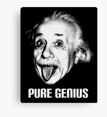 "Einstein ""Pure Genius"" Canvas Print"