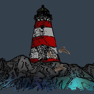 lighthouse in the middle of nowhere by ZoldPardon