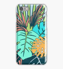 Tropical Leaves blue iPhone Case/Skin