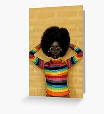 afro Greeting Card