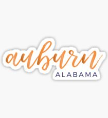 Pegatina Auburn Alabama - Auburn University Colors