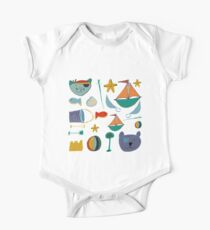 Cat and bear pirate blue Kids Clothes