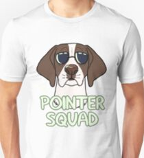 POINTER SQUAD (liver and white) Unisex T-Shirt