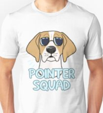 POINTER SQUAD (orange and white) Unisex T-Shirt