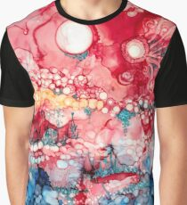 Abstract Alien Landscape III Graphic T-Shirt