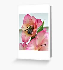 Bumble and Gladiolas Greeting Card