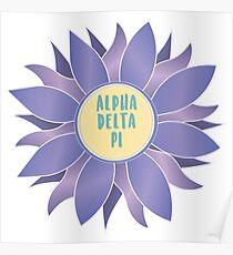 Alpha Delta Pi (ADPi) Flower Poster