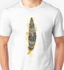 Watercolor feather AP095 T-Shirt