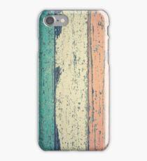 Vintage Weathered Texture Pastel Painted Wood iPhone Case/Skin