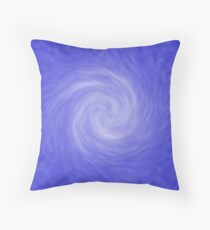 Blue Radial Blur Abstract  Throw Pillow