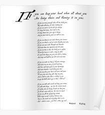 'If' by Rudyard Kipling Poster