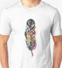 Watercolor feather AP096 T-Shirt
