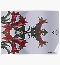 Floral Flower Abstract art Poster