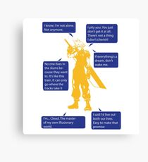 Cloud Strife Final Fantasy VII Quotes Canvas Print