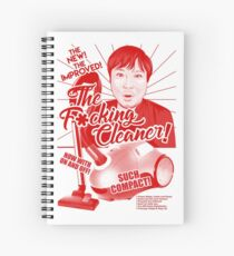 The Retro F*cking Cleaner Spiral Notebook