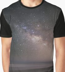 The Milky Way setting over the Atlantic Ocean Graphic T-Shirt