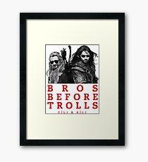 Fili & Kili: Bros Before Trolls Framed Print