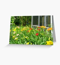 lilies by the porch Greeting Card