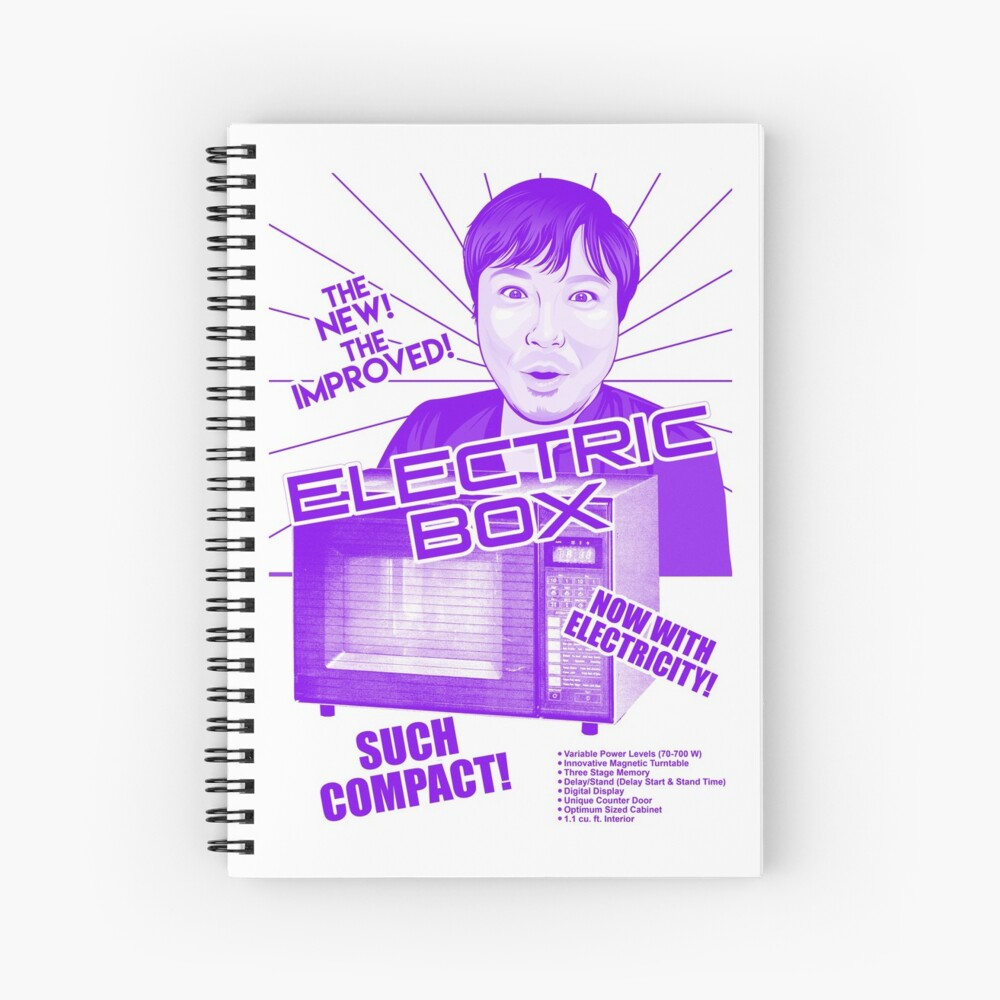 Retro Electric Box Spiral Notebook