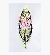 Watercolor feather AP097 Photographic Print