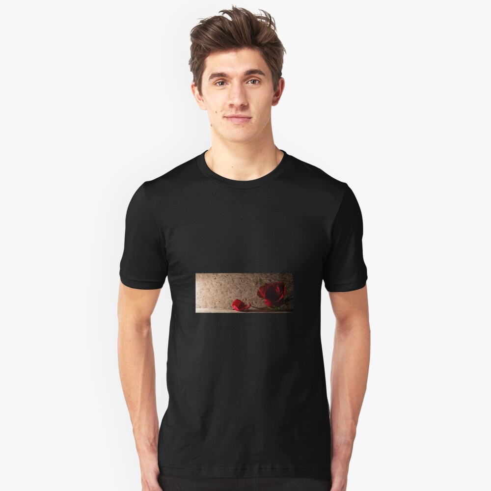 Rose and petal Unisex T-Shirt Front