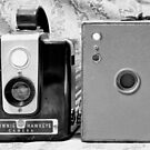 Daddy's Cameras 2 BW by marybedy