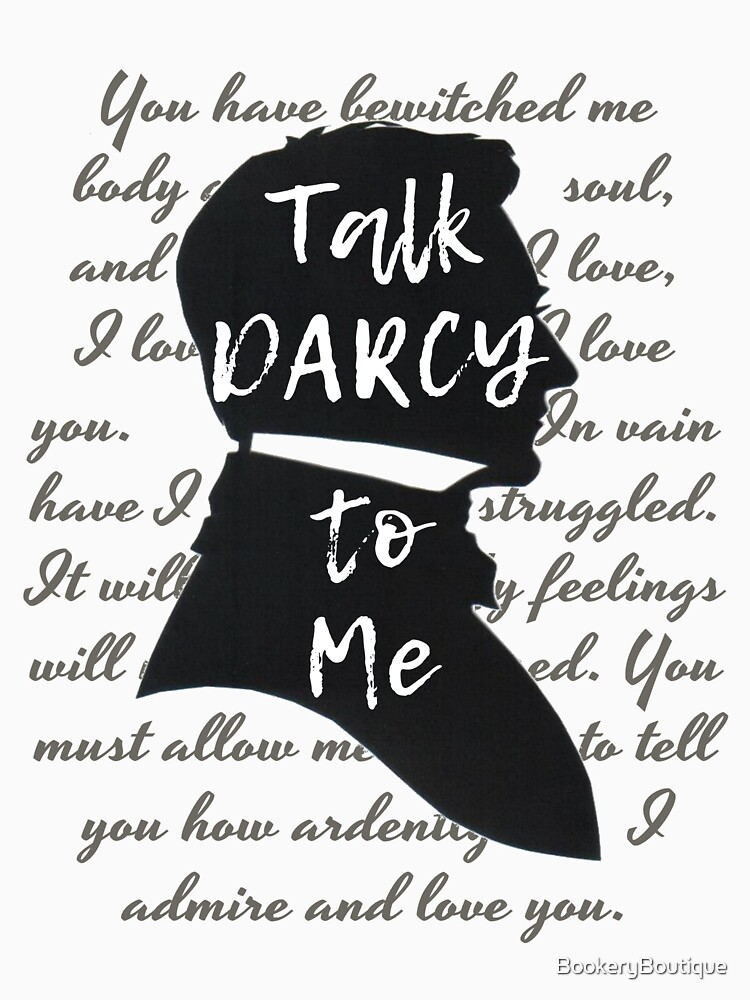 Mr Darcy Quotes Unique Talk Darcy To Me Funny Quote Jane Austen Gift Women's Fitted