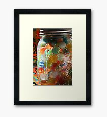 Marbles in a Jar 2 Painterly Framed Print