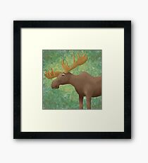 Moose Madness Framed Print