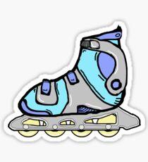 Blue Rollerblade Skates Sticker