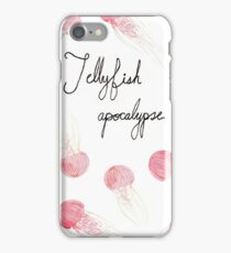 Jellyfish Apocalypse - With Text iPhone Case/Skin