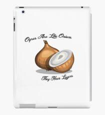 Ogres are like onions iPad Case/Skin