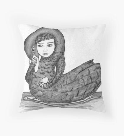 Swan girl from The Children of Lir Throw Pillow