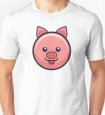 Shiny Pink Pig Unisex T-Shirt