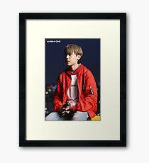 WANNA-ONE (황 미현) ft. Park Woojin (공원 우진) Teaser Photo Framed Print