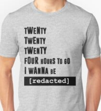i wanna be [redacted] Slim Fit T-Shirt