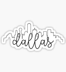 cityscape outline - dallas Sticker