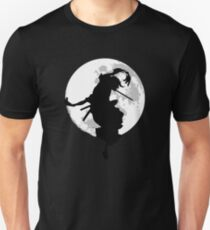 Moonlight Samurai Fight Cool Logo T-Shirt