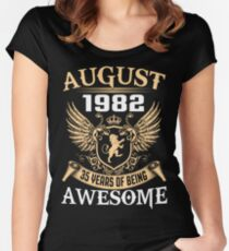 Kings Are Born On August 1982 Women's Fitted Scoop T-Shirt