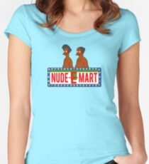 Nude E Mart Women's Fitted Scoop T-Shirt